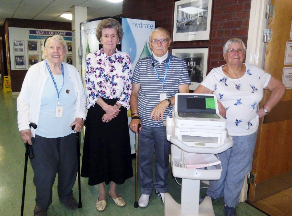 Friends donate £5,000 ECG machine to Pendle Community Hospital
